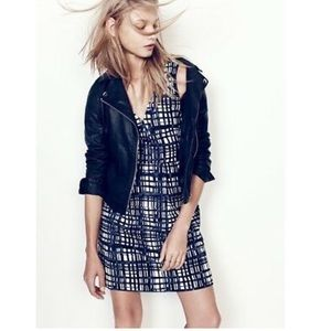 Madewell Navy Blue and White Checkered